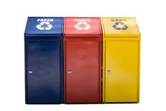 kolorowe recyklingu bin Zdjęcie Stock