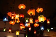 Kolorowe rocznik lampy Zdjęcie Stock