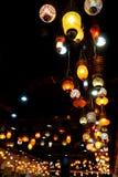 Kolorowe rocznik lampy Zdjęcia Royalty Free