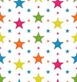 Kolorowe rozgwiazdy, lata Bezszwowy tło Obrazy Stock