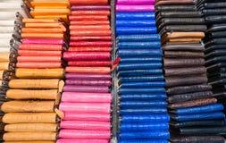 Kolorowe rzemienne kiesy Zdjęcia Royalty Free