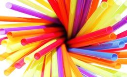 kolorowe słomy Fotografia Stock