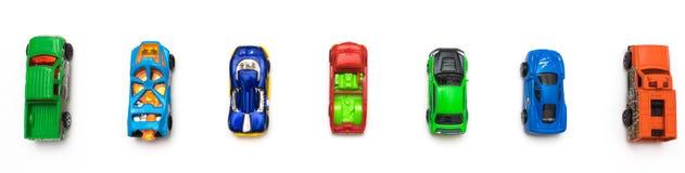 Kolorowe samochód zabawki Mieszkanie nieatutowy Fotografia Royalty Free