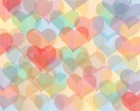 kolorowe serca Obraz Stock