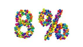 Kolorowe sfery w formie osiem procentów Zdjęcia Royalty Free