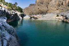 Kolorowe skały Oman obraz stock