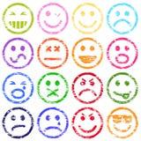 Smiley twarzy znaczki Zdjęcia Stock