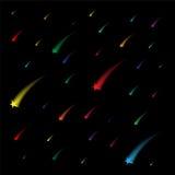 Kolorowe Spada gwiazdy tło niebiański Doskonalić dla Świątecznego projekta ilustracja wektor