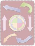 Kolorowe strzała ilustracja wektor