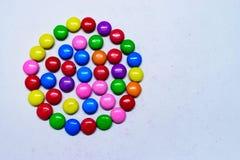 Kolorowe Stubarwne czekolady fotografia royalty free