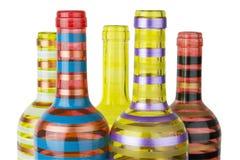 Kolorowe szklane butelki Zdjęcie Royalty Free