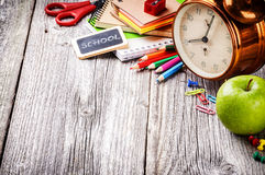 Kolorowe szkolne dostawy Zdjęcia Royalty Free