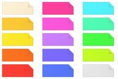 Kolorowe sztandaru papieru notatki na bielu royalty ilustracja