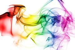 kolorowe tęcza dymu obrazy stock