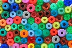 kolorowe tła abstrakcyjne Składanka wiele round koraliki Obrazy Royalty Free