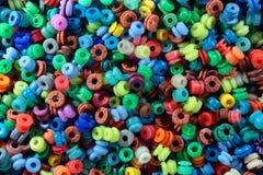 kolorowe tła abstrakcyjne Składanka wiele round miękcy gel koraliki Fotografia Stock