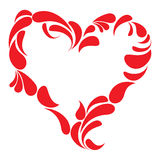 kolorowe tła ramowy w kształcie serca Obraz Royalty Free