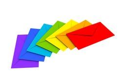 kolorowe tło koperty odizolowywali biel ilustracji