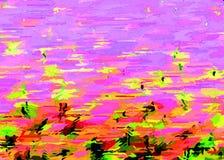 kolorowe tło Lato wieczór w polu ilustracja wektor