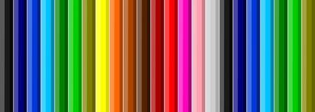 kolorowe tło kredki Obrazy Stock
