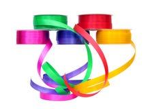 Kolorowe tasiemkowe rolki Zdjęcie Stock