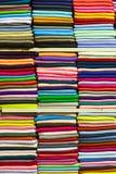 Kolorowe tkanin rolki Obrazy Stock