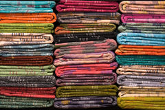 Kolorowe tkanin rolki, zamykają up Fotografia Royalty Free