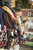 Kolorowe tkanin torby z słonia drukiem Zdjęcie Royalty Free