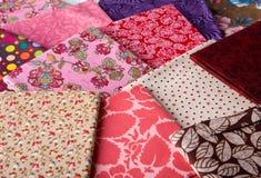 kolorowe tkaniny Obraz Stock