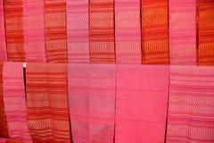 kolorowe tkaniny Zdjęcie Royalty Free