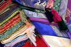 kolorowe tkaniny Obrazy Royalty Free