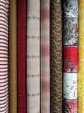Kolorowe tkaniny dla patchworku Obraz Royalty Free