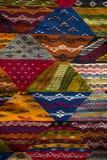 Kolorowe tkaniny na Agadir wprowadzać na rynek w Maroko Obrazy Royalty Free