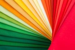 Kolorowe tkanki Zdjęcie Royalty Free