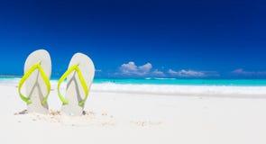 Kolorowe trzepnięcie klapy na tropikalnej plaży w Cayo Largo, Kuba Zdjęcia Stock