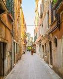 Kolorowe ulicy Wenecja obraz royalty free