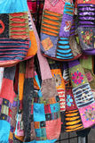 Kolorowe Waciane tkanin torebki Zdjęcie Stock