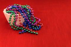Kolorowe wakacyjne paciorkowate girlandy Obraz Stock