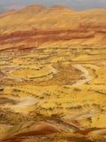 Kolorowe warstwy malujący wzgórza fotografia stock