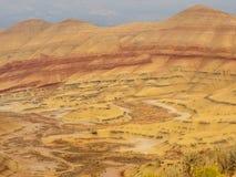 Kolorowe warstwy malujący wzgórza zdjęcie stock