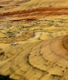 Kolorowe warstwy malujący wzgórza zdjęcia stock