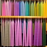 Kolorowe świeczki w świeczki manufactory Zdjęcie Royalty Free