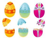 kolorowe Wielkanoc jaj ilustracji