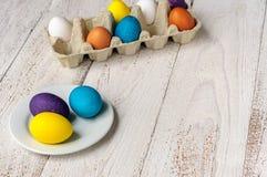 kolorowe Wielkanoc jaj Fotografia Royalty Free