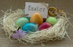 kolorowe Wielkanoc jaj zdjęcie stock
