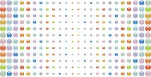 kolorowe wielo- przyciski ilustracji
