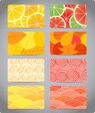 kolorowe wizytówek tekstury Fotografia Stock