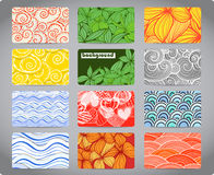 kolorowe wizytówek tekstury Fotografia Royalty Free
