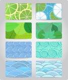 kolorowe wizytówek tekstury Obrazy Royalty Free