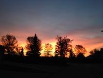 kolorowe wschód słońca Obraz Royalty Free